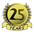 Gold 25 years Stock Images