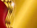 Gold abstract background an illustration of an and red Royalty Free Stock Photo