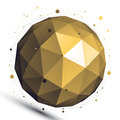 Gold Abstract 3D Vector Networ...