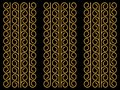 Gold abstract pattern texture vector ornament