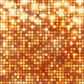 Gold abstract sparkling background with circles disco Royalty Free Stock Photography