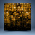 Gold and black vector mosaic abstract background Royalty Free Stock Photo
