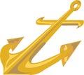 Gold Anchor Royalty Free Stock Photo