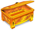 Gold antique chest Stock Photography