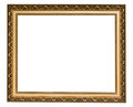 Gold antique frame Royalty Free Stock Photo