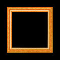 Gold antique frame isolated on black background. Royalty Free Stock Photo