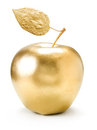 Gold apple. Royalty Free Stock Photo