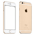 Gold Apple iPhone 6S mockup slightly rotated front view with