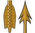 Gold arrow vector illustration of Stock Image