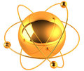 Gold atom Royalty Free Stock Photos