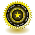Gold award icon Stock Photography