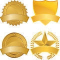 Gold Award Medals Royalty Free Stock Photo