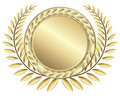 Gold award ribbons Royalty Free Stock Photography
