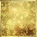 Gold backdrop with blur bokeh Stock Image