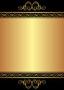 Gold background and black with ornaments Royalty Free Stock Photos