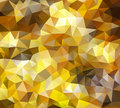Gold background made of triangle shapes Royalty Free Stock Photo