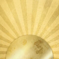 Gold background with rays - abstract sunburst Royalty Free Stock Photo