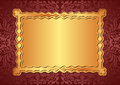Gold background red and with copy space Royalty Free Stock Images