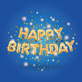 Gold Balloons happy birthday1