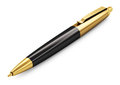 Gold ballpoint pen creative abstract business office paperwork and document work management corporate concept luxury on white Stock Photo