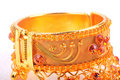 Gold bangle Royalty Free Stock Photos