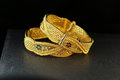 Gold Bangle Jewellery Royalty Free Stock Photo