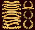 Gold  banner set Royalty Free Stock Photo
