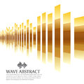 Gold bar wave abstract background vector design Royalty Free Stock Photo