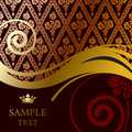 Gold baroque background Royalty Free Stock Images