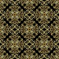 Gold Baroque seamless pattern. Vintage vector damask background. Royalty Free Stock Photo
