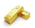 Gold bars bank d isolated Royalty Free Stock Photography