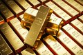 Gold bars in bank vault. Storage. 3d Royalty Free Stock Photo