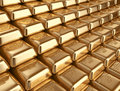 Gold bars concept of banking d illustration Stock Photo