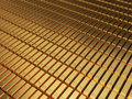 Gold bars d render stacking depth of field Stock Images