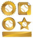 Gold - Baseball Royalty Free Stock Photo