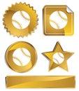 Gold - Baseball Royalty Free Stock Photo