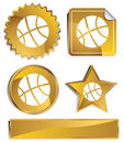 Gold - Basketball Royalty Free Stock Photo