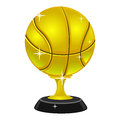 Gold Basketball Trophy Royalty Free Stock Photo