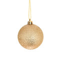 Gold bauble Royalty Free Stock Photo