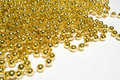Gold bead background Stock Image