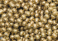 Gold beads Stock Photo