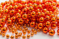 Gold beads close-up background Royalty Free Stock Photo