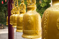 Gold bell in buddha temple thailand Royalty Free Stock Images