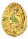 Gold Easter`s Egg