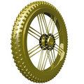 Gold Bike Tire Trophy Royalty Free Stock Photos