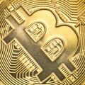 Gold bitcoin Stock Photos