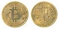 Gold bitcoin Royalty Free Stock Photo