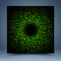 Green vector pattern mosaic abstract background Royalty Free Stock Photo