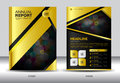 Gold Black Annual report template,gold cover design,brochure fl Royalty Free Stock Photo