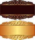 Gold and black background Royalty Free Stock Photo